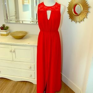 ➖ BCBGeneration Red Maxi Dress with Sheer Back ➖